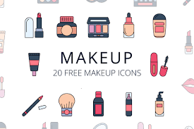 free makeup vector icon set