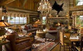 Living Room Decorating Traditional Rustic Living Room Design With Brown Square Sofa Traditional Rooms