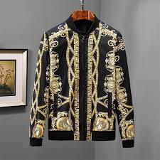 Versace Jacket <b>2018 Autumn New</b> Fashion Print Simple Jacket ...