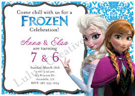 elsa birthday invitations outstanding double birthday invitations photos invitation card