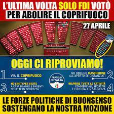 Coprifuoco Italia Oggi