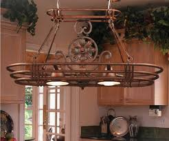 kitchen diy pot rack double built in oven vintage wall lights square cherry wood bar