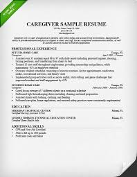 resume sample for a caregiver skills resume examples