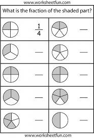 Kindergarten Math Worksheets For Grade 3 On Fractions | Worksheet ...