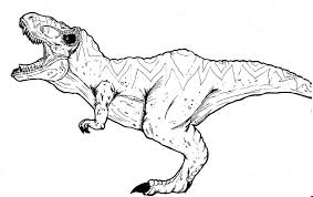 T Rex Coloring Sheets