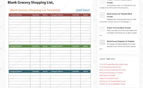 Template For Shopping List List Template Find Your One Now Free Printable Grocery