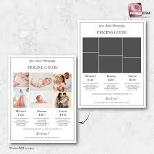 A La Carte Menu Template Photography Pricing Guide Template A La Carte Menu Maternity Pricing Template Newborn Price List Template Photo Session Family Sessions