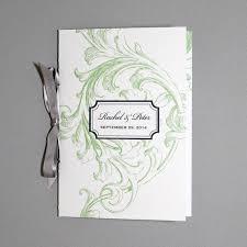 Wedding Program Scroll Florid Scroll 4 Page Program Template