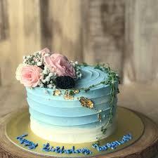 Simple Elegant Birthday Cake Blue Rustic Birthday Cake Free