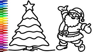 Coloring Santa And Christmas Tree Coloring Pages Creativity Colors