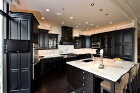 dark kitchen cabinets with white countertops ideas