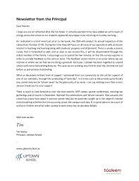Letter To School Principle Uptown School Principal Letter