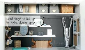 closet office ideas. Closet Office Ideas With Extra Storage Space The Crazy Craft Lady Featured On Small