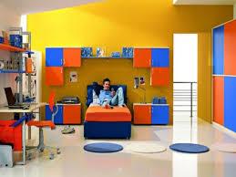 kids bedroom paint designs. blue wooden desk toddler boy bedroom themes brown bed kids paint designs
