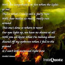 Lampshades On Fire Lyrics New Lampshades On Fire By Modest Mouse Listen To It While I Write