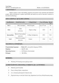 Top Resume Format For Freshers Ece Electronics And Communications