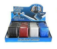 <b>Wholesale</b> Lot of 24 Aluminum Metal Wallet ID Credit <b>Card Case</b> ...