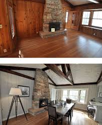 Painted Knotty Pine An Entire Cottage Paneled In Knotty Pine Transformed By Paint