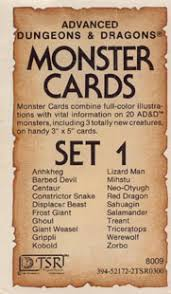 AD&D Monster Cards