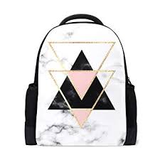 <b>ALAZA</b> Geometry Marble Casual <b>Backpack</b> Waterproof Travel ...