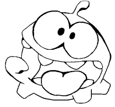 Om Nom Cut The Rope Coloring Pages Cut The Rope Cut The Ropes