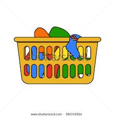 laundry basket clipart. Vector Illustration Laundry Basket Thin Line Stock Vector. Dirty Clipart A