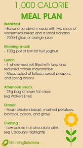 1000 Calories Food Chart Farah Asim Asim0144 On Pinterest