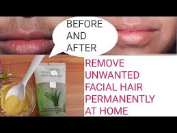 wax remove upper lips hair naturally