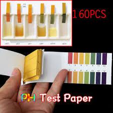 Details About Laboratory 160 Ph Indicator Test Strips 1 14 Paper Litmus Tester Urine Saliva