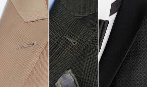 Men's <b>suit lapel</b> and <b>collar</b> styles: notched <b>lapels</b>, peaked or shawl ...