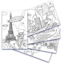 coloring postcards. Modren Postcards Adult Coloring Postcards With