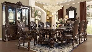 hd 8006 victorian dark walnut dining set