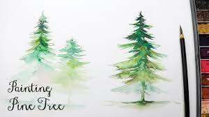 lvl3 how to paint a pine tree in watercolor you
