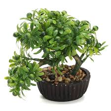 office bonsai. 20CM-Pine-Bonsai-Berry-Tree-in-Pot-Artificial- Office Bonsai