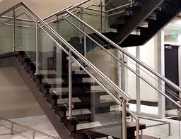 glass stair railing cost best of photos monaco post supported glass railing