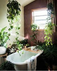 Hey there -- is there enough rom for us in your tub? we just love your  jungalicious bathroom! Thanks for sharing it with is in the feed!