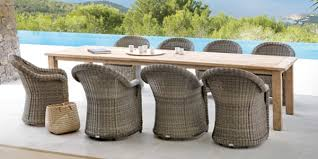 outdoor wicker wood dining chairs table gardens