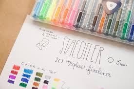 Staedtler Triplus Color Chart Review Staedtler Triplus Fineliner 20 Color Felt Tip Marker