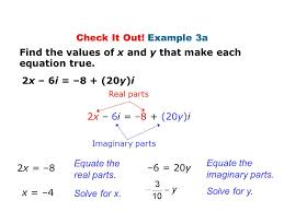 solve for x find the values of x and y that make each equation true