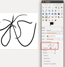 A single dot will appear on the screen. 11 04 How To Set Pressure Sensitivity In Gimp To Control Line Thickness Ask Ubuntu