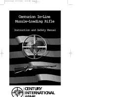 Pyrodex Load Chart Century Centurion Inline Muzzle Loading Rifle Manualzz Com