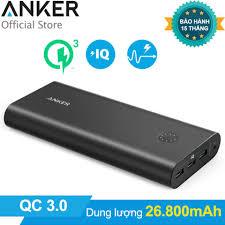 Shop bán Pin sạc dự phòng ANKER PowerCore+ 26800mAh Quick Charge 3.0 (Đen)  - Hãng phân phối
