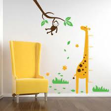 Details About Giraffe Height Growth Chart Monkey Tree Vinyl Wall Decal Sticker Kids Nursery