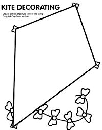 Small Picture Kite coloring page Visual Closure Pinterest Kites School