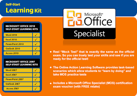 Microsoft Office Training Certificate Microsoft Office Specialist Access Exam Certification