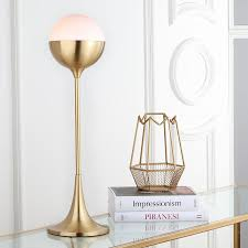 safavieh lando 27 in brass gold uplight table lamp