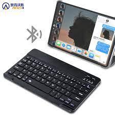Tablet için taşınabilir Mini kablosuz Bluetooth klavye Samsung Huawei  Xiaomi iPad Tablet IOS Android sistemi ile telefon evrensel|Tablet  Keyboards