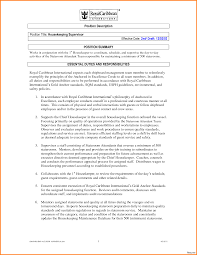 Nanny Job Responsibilities Resume Housekeeping Resumee For Photo Exampleses Stunning Resume 80