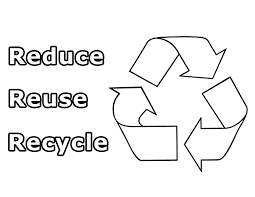 Small Picture Reduce Reuse Recycle Coloring Page Means For Earth Day Holiday