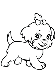Dog Printable Coloring Pages Realistic Cute Printables Hot Page ...